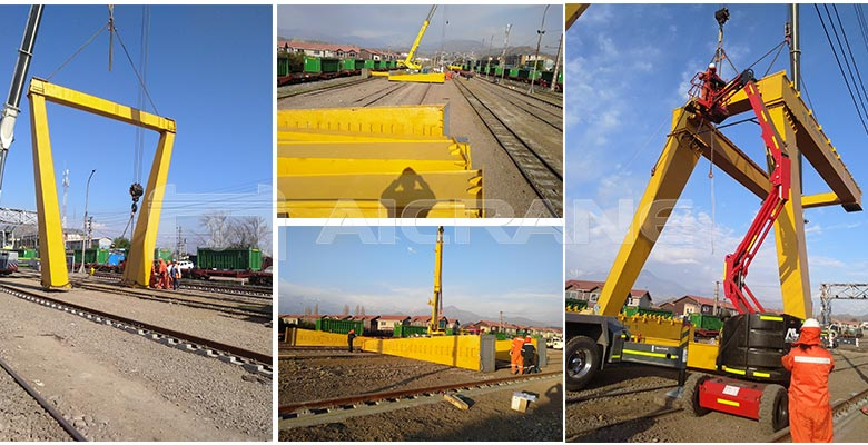 aicrane gantry crane has exported to many countries