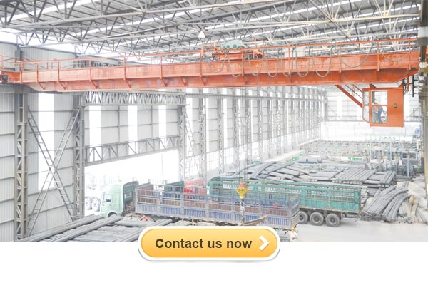 Steel mill industry for using double girder overhead crane