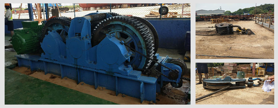 electric slipway winch