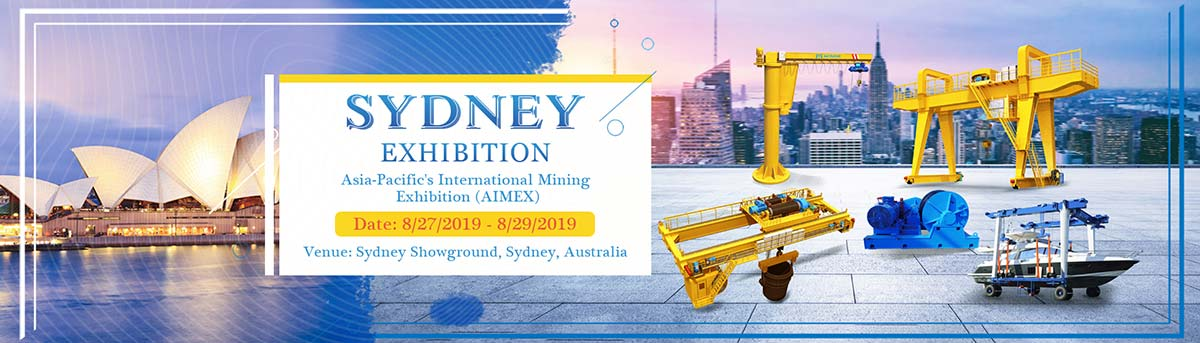 china overhead crane supplier will attend australia