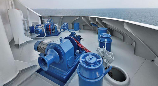 10/100ton electric and hydraulic anchor winch