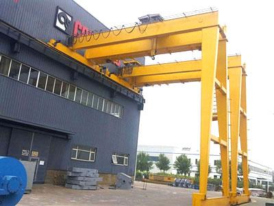 10t semi gantry crane