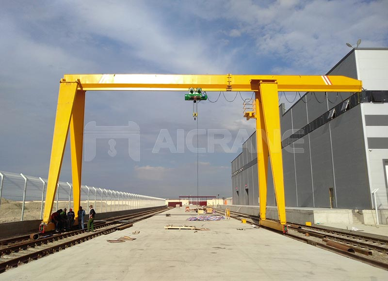 10ton gantry crane exported to uzkistan