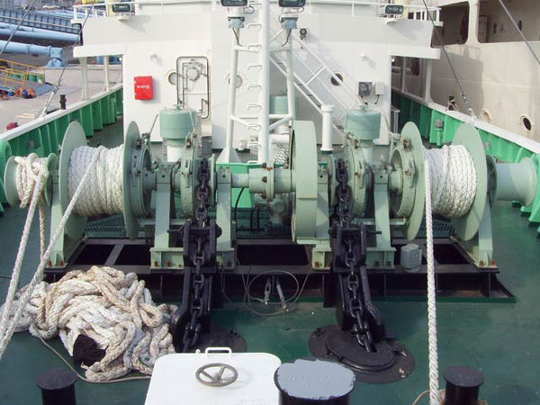 double drum anchor mooring winch