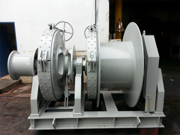 single drum anchor mooring winch