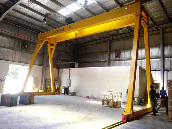 5 ton duble grider gantry crane in UAE
