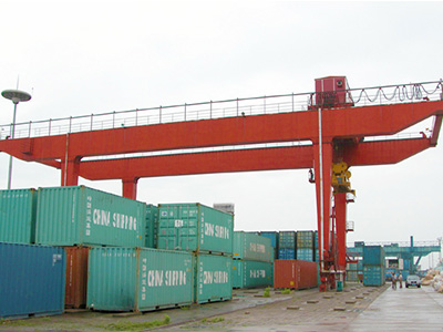 container gantry crane for railway freight